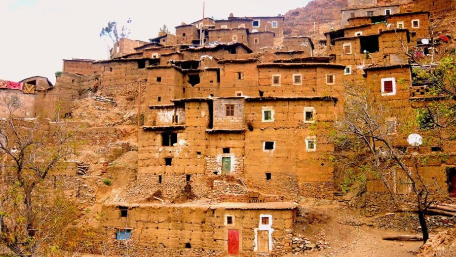 Traditional Berber village, Morocco Atlas Mountains