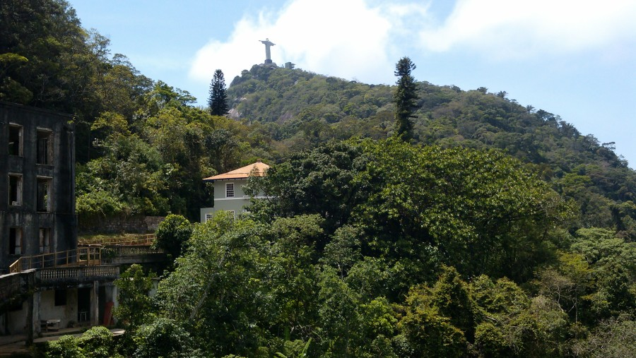 View from the Parking up the Corcovado, the Redeemer