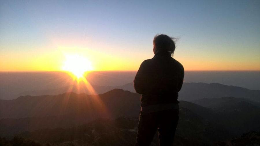 Sunrise over the horizon
