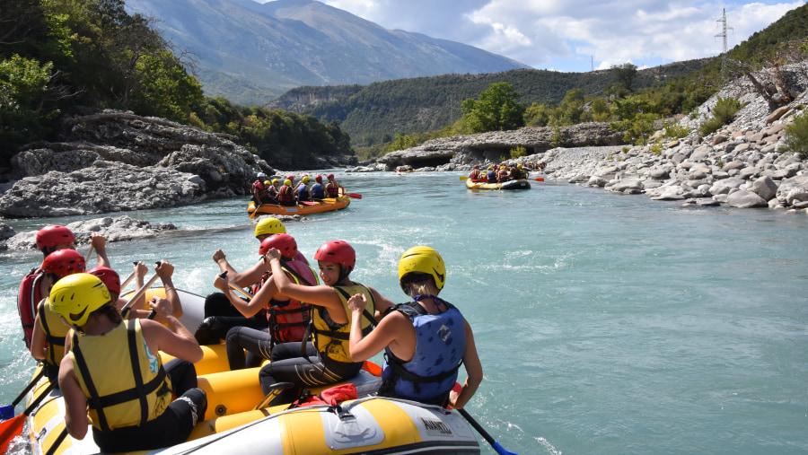Rafting in Vjosa River,Albania Rafting Tours