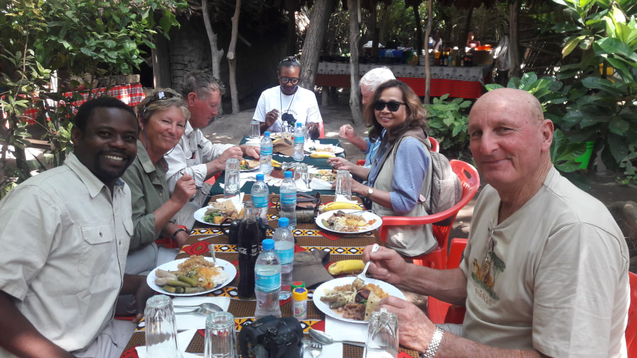 Local lunch at Mto wa Mbu village at  Lake Manyara