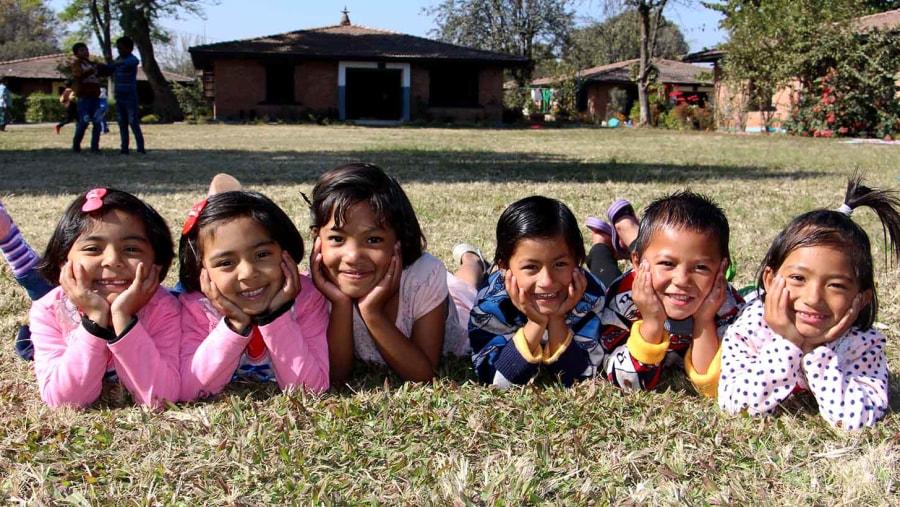 Children from SOS children village