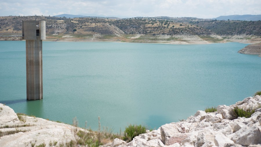Visit to Asprogremos Dam, the biggest water reserve in Paphos
