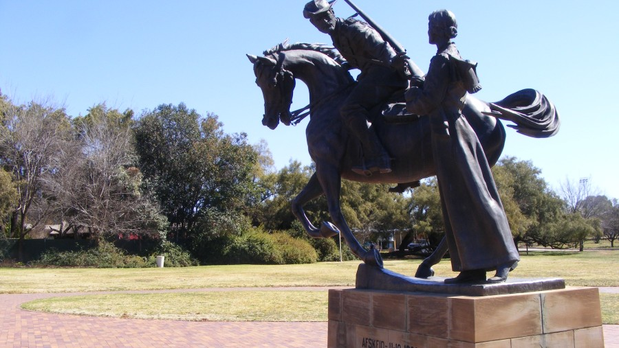Farewell statue at the Anglo Boer war Museum