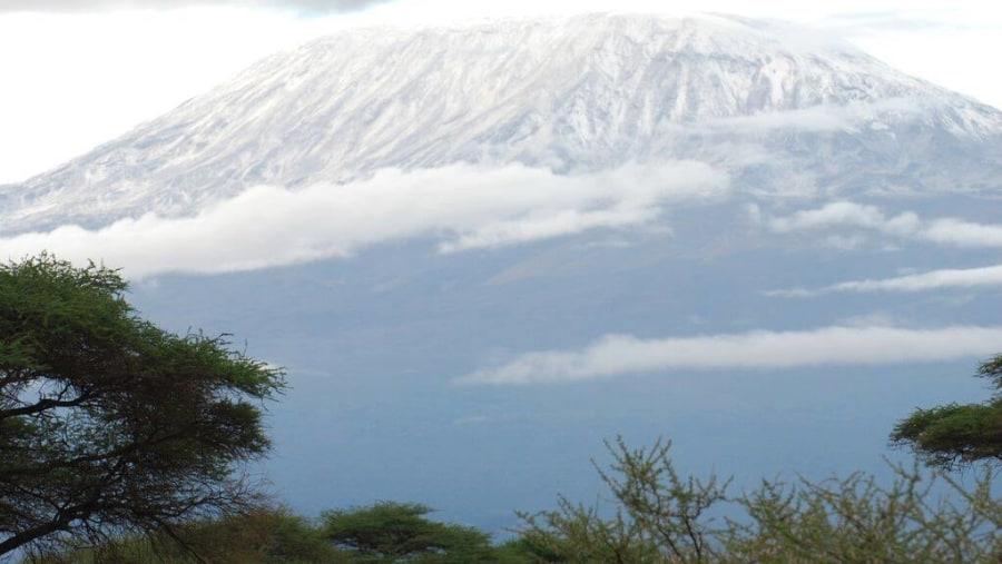 Mount Kilimanjaro as seen from Amboseli National Park