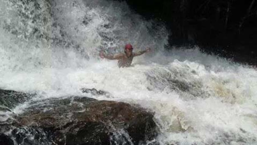 The energy of life, one of the most beautiful water falls in the Amazon...