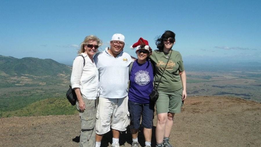 at the top of cerro negro