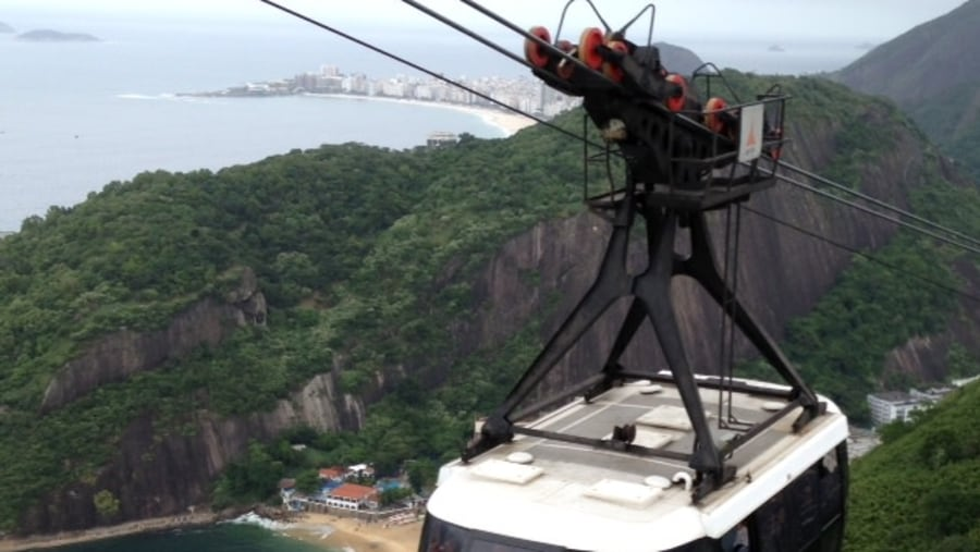 Cable car on Sugar Loaf
