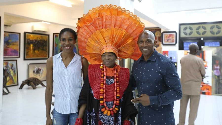 With Madam NIke of Nike Art Gallery