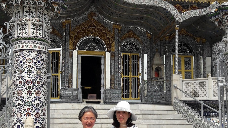 19th century temple with my guest