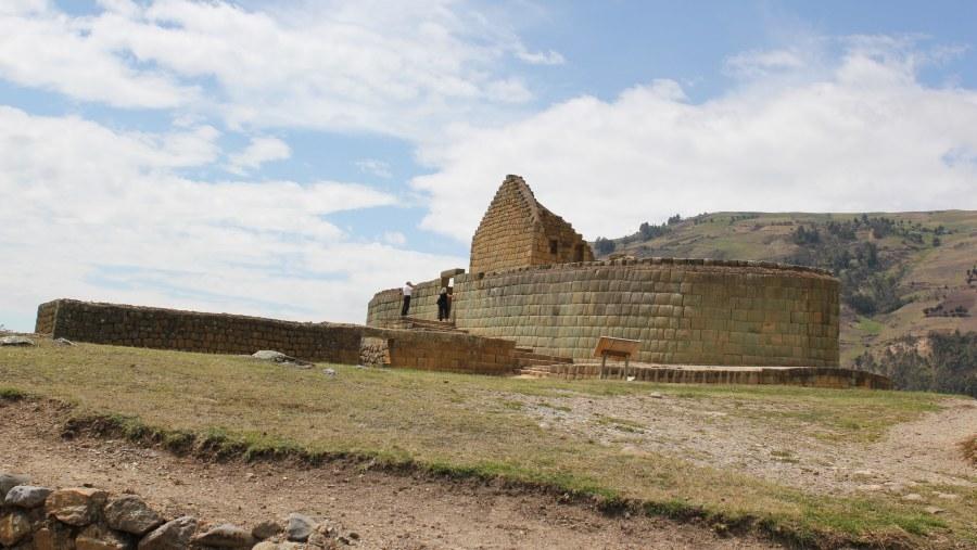incas ruins unique eliptical temple