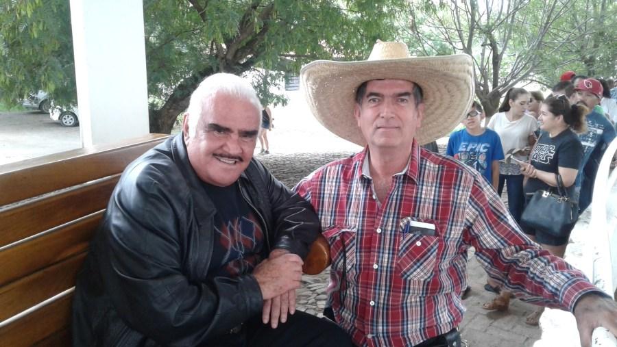 Con Vicente Fernández en Rancho Tres Potrillos