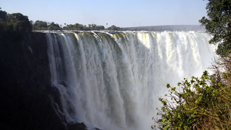 The Main Falls at the Victoria Falls