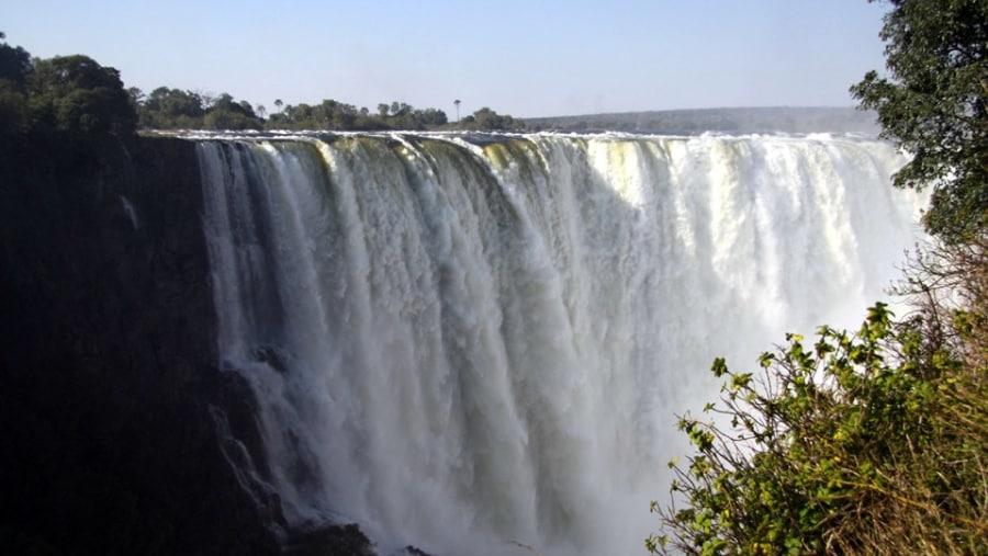 The Main Falls at the Victoria Falls