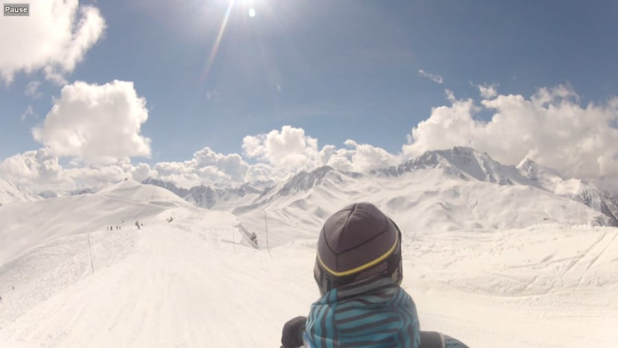 Skiing on French Alpes
