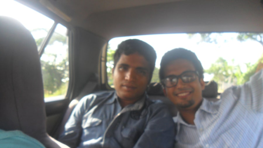 me with my frnd on our way to chittagong
