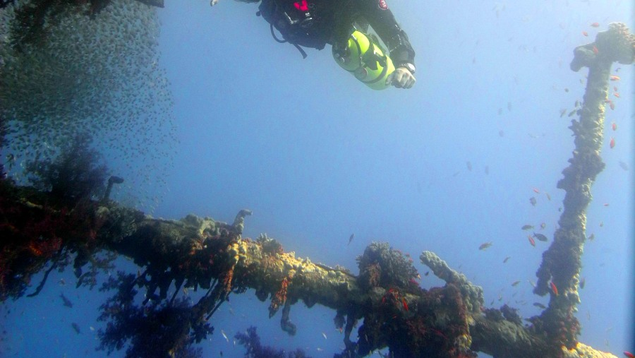 Tec diving at the Cedar Pride