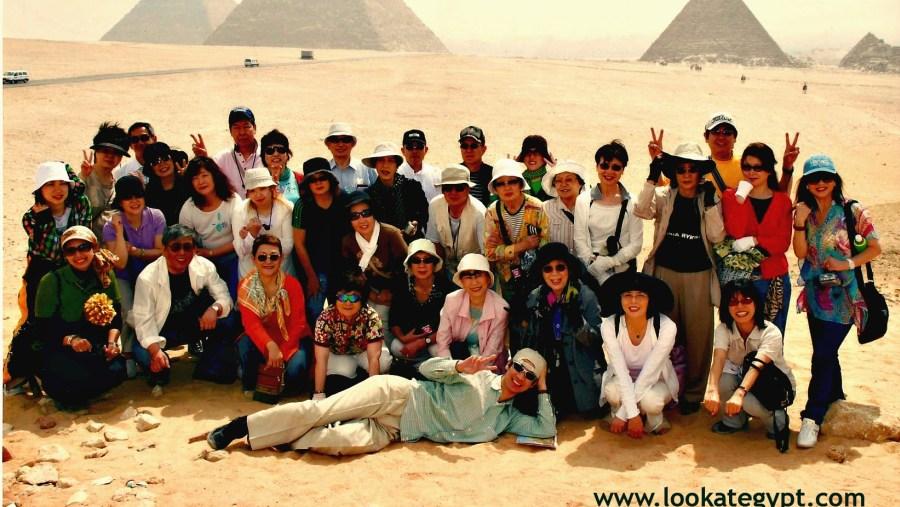 Panorama of Giza Pyramids
