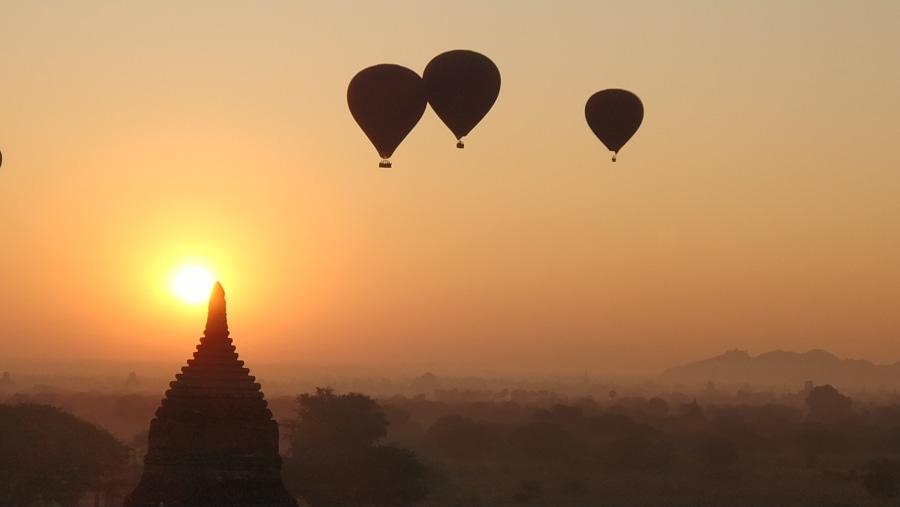 Sunrise with Balloon