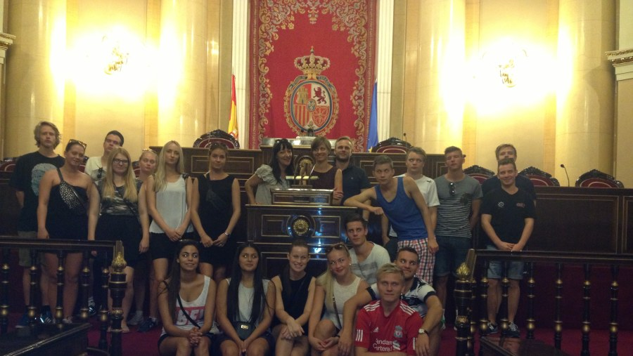 Guided tour with Danish students
