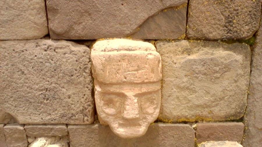 Heads in Underground Temple