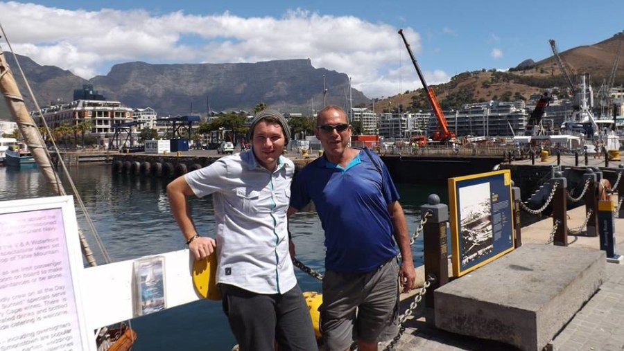 Vernon and Brandon Moss,enjoying the sites and sounds of Cape Town