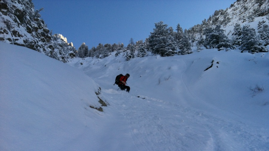 Enjoying Steep untracked skiing on Classic lines