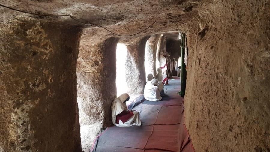 Adadi Mariam Rock Cut Church near Addis Ababa