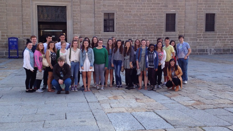 Visiting The Escorial with British students