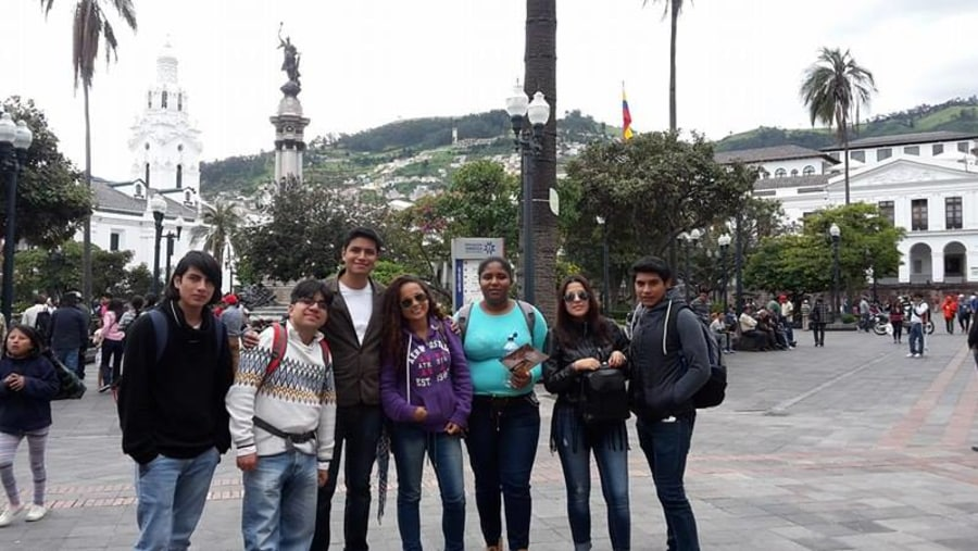 Students of the University of the Andes from Ibarra city.
