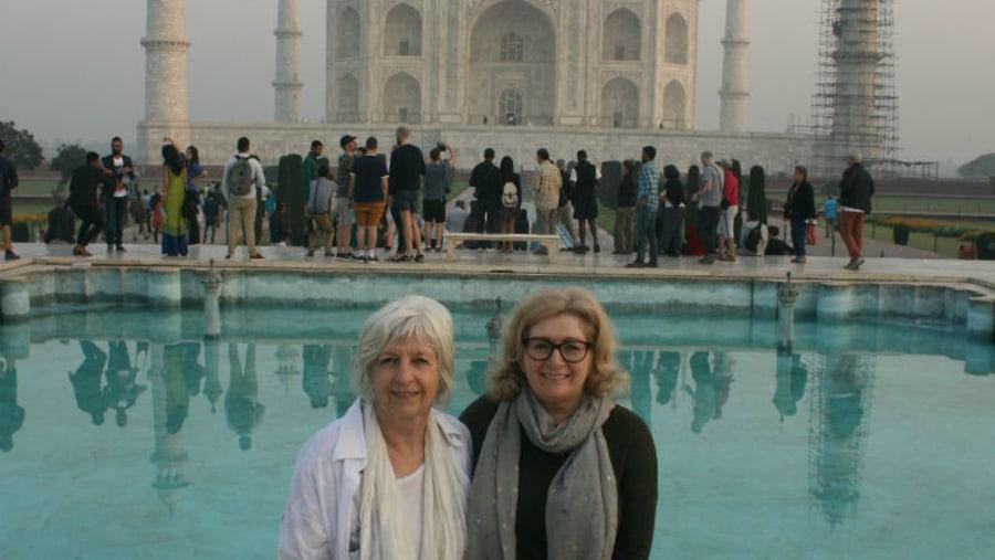 At Taj Mahal