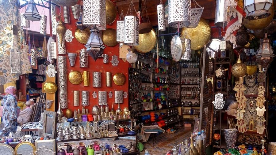 souvenir shop in Marrakech