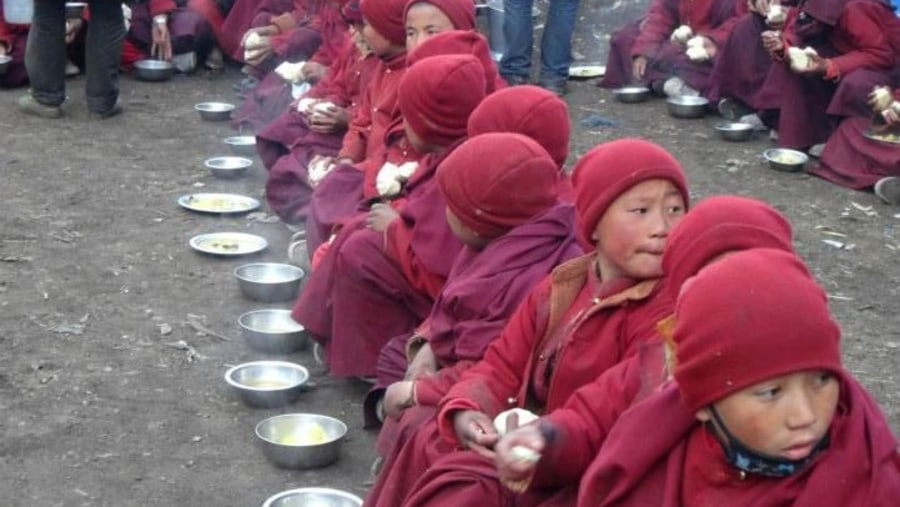 lunch for monk students