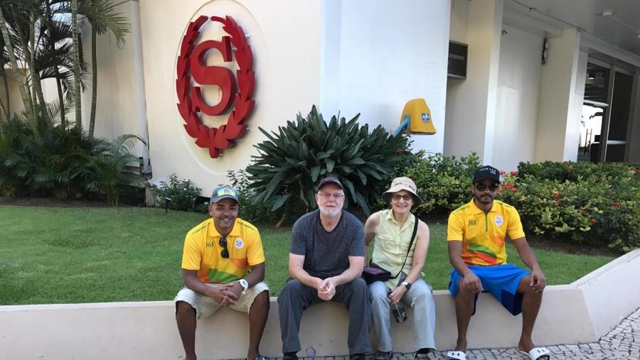 Beginning of City Favelas Tour Meeting Point
