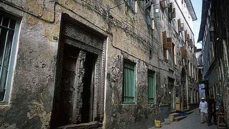 Narrow street in Zanzibar