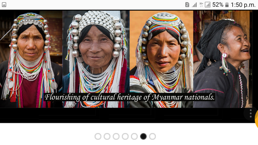 One of an Ethnic  Race of Myanmar