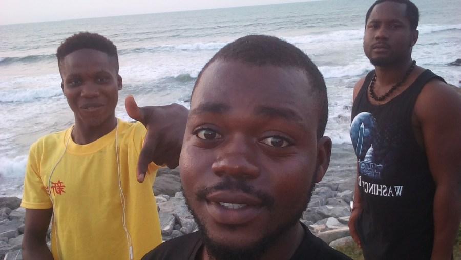 At The Ibeno Beach, with Some Tourist