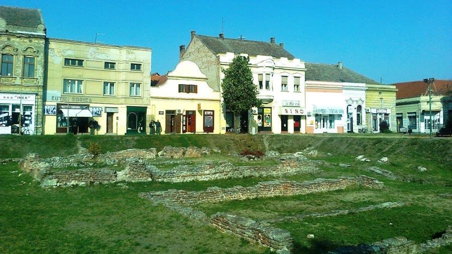 Sirmium, the ancient ruins of Roman city
