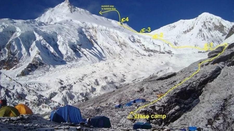 Manasalu summit