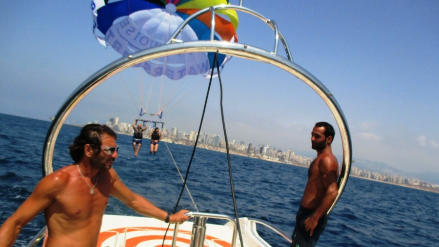 Sports leisure in the sea of the capital Beirut (2015-07)