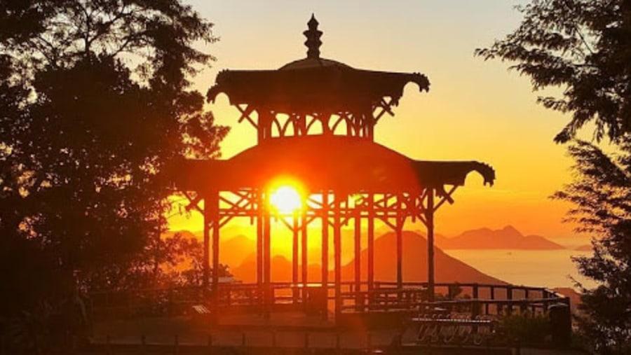 Chinese Pagoda view at sunrise