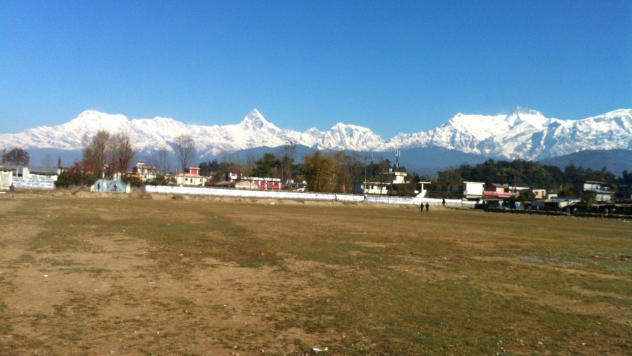 Annapurna range during a clear weather