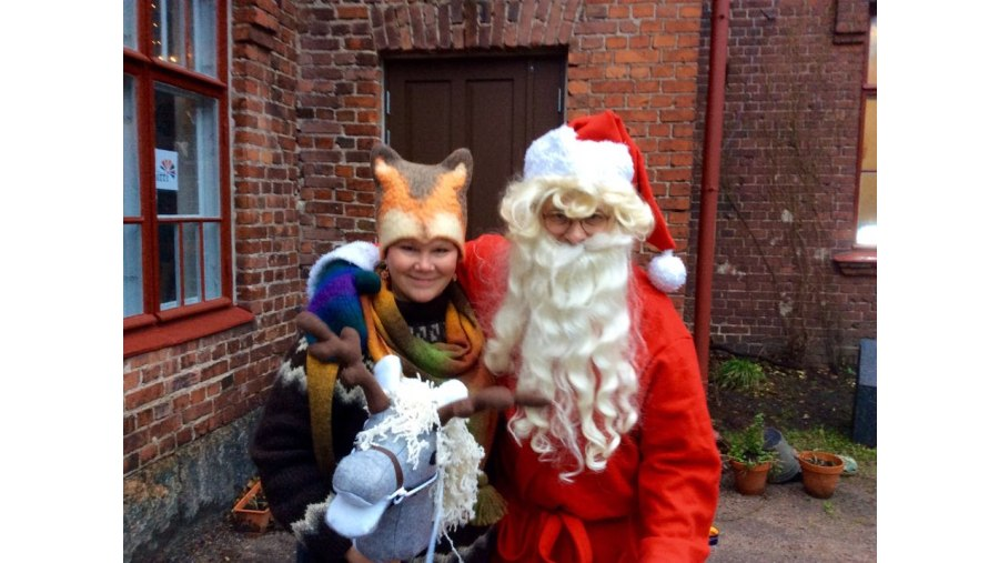 Santa Claus and guide Arja