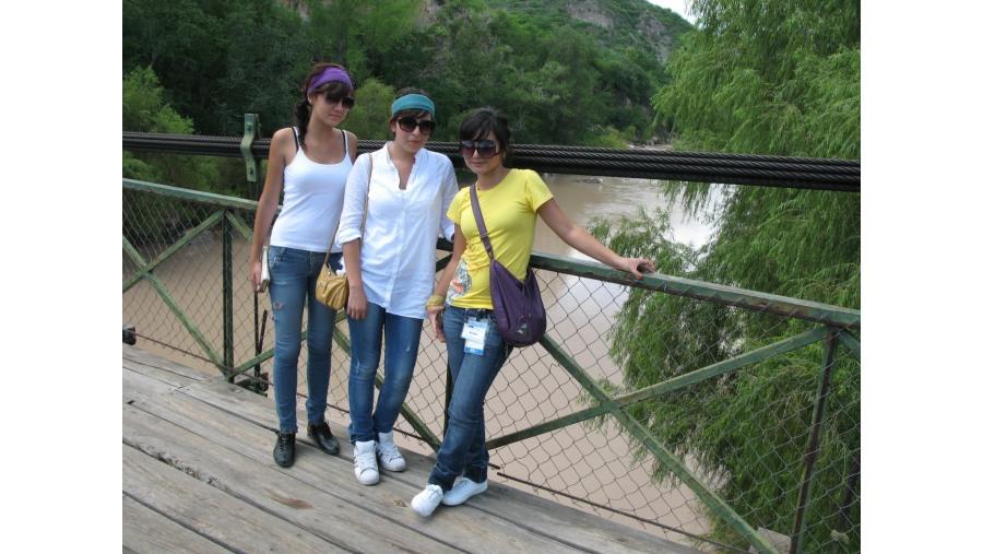 Puente colgante sobre el río Bolaños