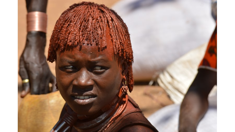 Hamer girl in South Omo Valley Ethiopia