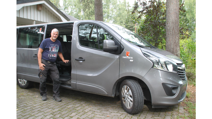 Van car for tours