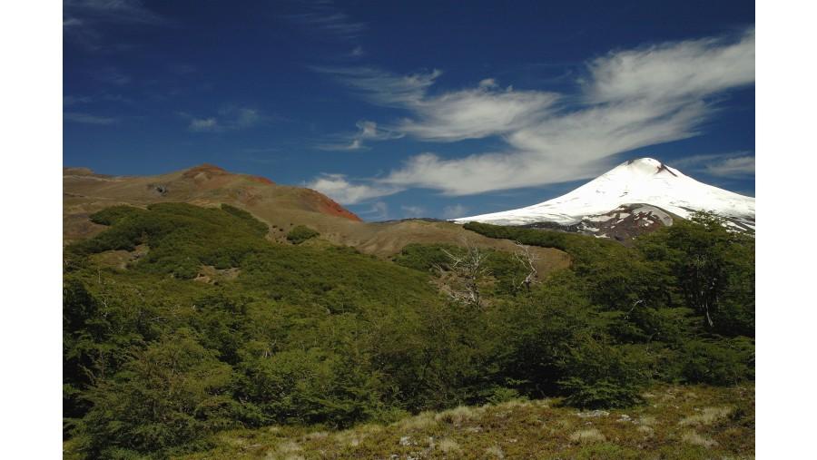 Villarrica Volcano from Los Nevados