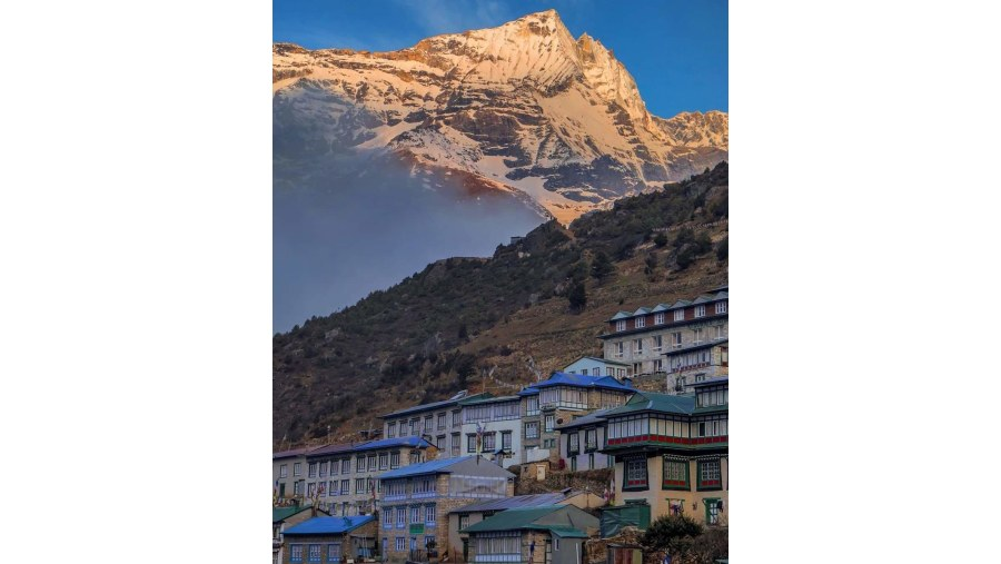 View of Namche Bazaar from Different angle.
