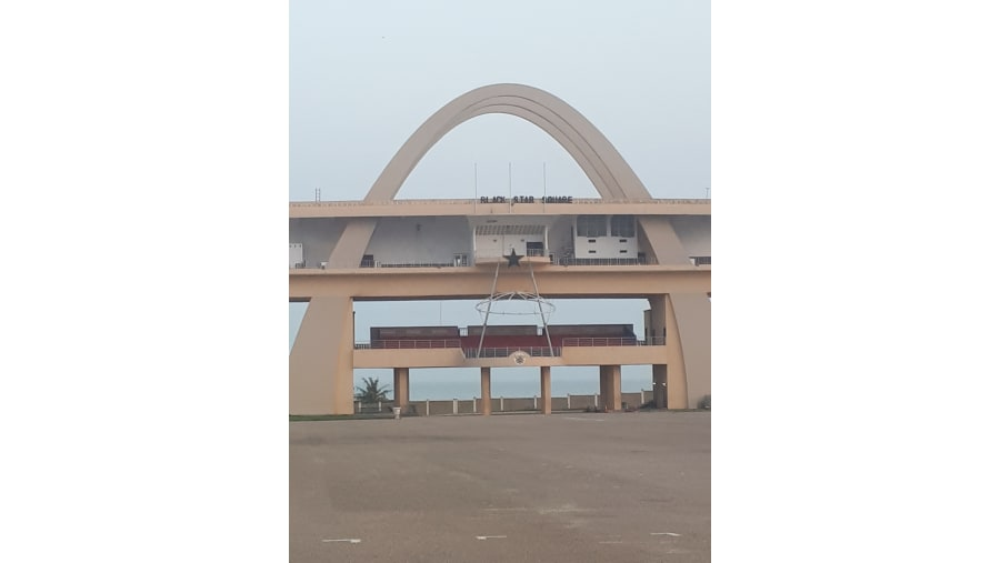 Independence Arch at the Black Star Square in Accra
