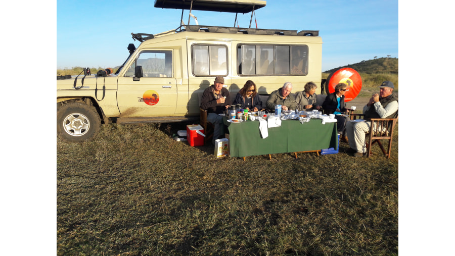 Bush breakfast in Serengeti National Park